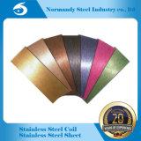 Feuille et plaque d'acier inoxydable de 410 couleurs pour la décoration et la cabine, porte d'ascenseur