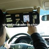 Red-él visera de Sun accesorio electrónico del organizador del almacenaje de tarjeta de coche del sostenedor
