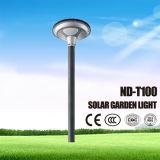 Lumière solaire de jardin de Pôle de lampe en aluminium de DEL