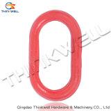 Acero de aleación sin soldar pintado rojo que forja el anillo sin soldar