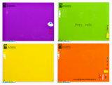 Tarjetas de escritura de cristal coloridas del diseño interior