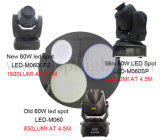 소형 60W LED 이동하는 맨 위 반점 빛의 갱신 버전