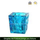 Suporte de vela de vidro de Tealight do cubo para a decoração Home Afch-F6074