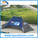 16X21m Custom Printed Advertizing Messe Display Star Shade Tent