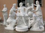Découpant la sculpture en pierre en statue de marbre pour la décoration de jardin (SY-X1722)