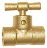 Válvula de cobre amarillo del radiador de dos maneras para el agua (A. 0172)