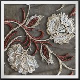 4つの調子の網の刺繍のレースのテュルの刺繍のレースの多色刷りのレース