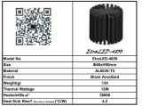 Refrigerador do dissipador de calor do diodo emissor de luz para o diâmetro 48mm do módulo do diodo emissor de luz de Xicato