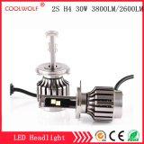 경쟁가격을%s 가진 공장 직매 2s H4 30W 3800lm LED 차 LED 헤드라이트 전구 Headlamp