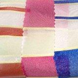 Poliéster tejido jacquard teñido hilado de nylon rayas Cemical fibra para prendas de vestir