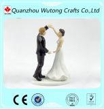 De decoratieve Cake Topper van de Decoratie van het Huwelijk van de Hars van het Beeldje van het Paar van de Bruid en van de Bruidegom