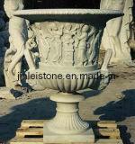 POT di fiore di scultura di pietra del POT del giardino (JL-GAR022)