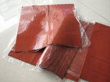 Strato rosso scuro della gomma piuma del silicone, strato della spugna del silicone per la Tabella rivestente di ferro