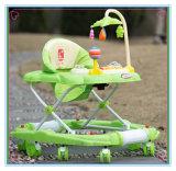 Camminatore del bambino delle rotelle del commercio all'ingrosso 8 con la barra di spinta