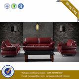 Sofa moderne de bureau de divan de cuir véritable de meubles de bureau (HX-CF020)
