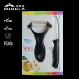 нож керамического плодоовощ 2PCS обстрагывая установил для выдвиженческого подарка