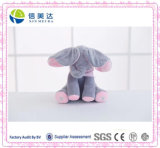 Het grappige Muzikale Stuk speelgoed van de Pluche van de Baby van de Olifant