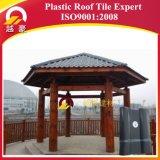 telhas de telhado plásticas do ASA do vermelho de tijolo da garantia 30years