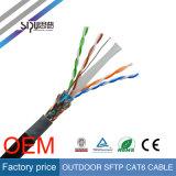 Cavo di lan impermeabile di Ethernet di Sipu UTP CAT6 23AWG esterno 4p