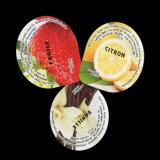 Tampa plástica da folha de alumínio do copo do Yogurt