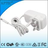 enchufe estándar del adaptador de la CA 18With12V/1.5A con el certificado del estándar del Ce