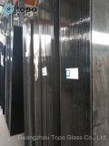 4 mm - 10 mm color oscuro Negro de vidrio flotado para la decoración (CB)