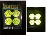 Безопасности лапок собаки PVC стикер популярной отражательный