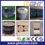 0.7mmccs, 4.8mmfpe, 32*0.12mmalmg, OD : câble coaxial de liaison noir Rg59 de PVC de 6.6mm