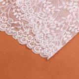 La mode dénomme le tissu blanc de lacet de textile de rideau à vendre
