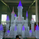 Parque de diversões LED Castle Light Christmas Outdoor Decoration