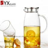 стеклоизделие боросиликата Горяч-Сбывания 1.8L/стеклянный холодный создатель чая Brew/ясный стеклянный кувшин воды с бортовыми ручкой и крышкой для пить холода/стеклянного питчера воды