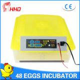 Mini incubateur automatique Yz8-48 d'oeufs de poulet