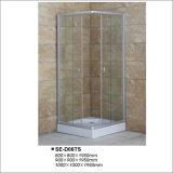 Revestimentos de chuveiro de porta deslizante transparentes de 900 * 900 * 1950mm com bandeja quadrada