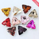 El triángulo cose en los cristales de la joyería de traje de la joyería de la suposición del Rhinestone (Interruptor-Triángulo 22m m)