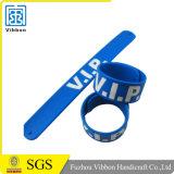 Wristband браслета шлепка силикона дешево магнитный щелчковый