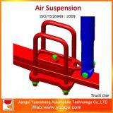 El chasis de automóvil parte el pequeño sistema de suspensión del aire de los sacos hinchables del carro dos