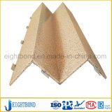 Painéis de alumínio do favo de mel da grão da pedra do projeto da forma