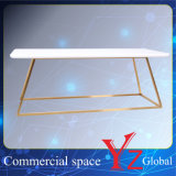 El estante de exhibición (YZ161806) de acero inoxidable soporte de exhibición estante de exhibición de la exposición de la suspensión del estante del estante del estante Promoción