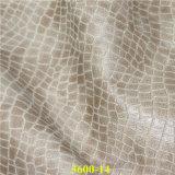 Piel artificial grabada de la PU del grano del cocodrilo para el sofá moderno de los muebles