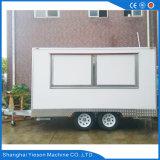 De mobiele Elektrische Vrachtwagen van het Voedsel voor Verkoop met het Kabinet van de Schuifdeur