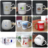 Tazas de cerámica del regalo promocional de las aduanas para la leche del café del té