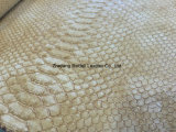 Cuir de PVC de configuration de serpent pour Madame Handbag/Shouldbag/pochette/livre couvert