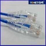 28 cordons de connexion de la meilleure qualité de réseau de câble Ethernet de réseau local d'ordinateur de la catégorie 6 d'A.W.G. 3FT