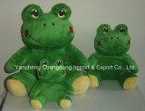 子供のためのプラシ天の薄緑のあるカエル
