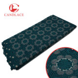 Tessuto di vendita caldo del merletto del voile del cotone di qualità per la cerimonia nuziale di Aso Ebi