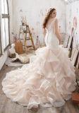 Nixe-Hochzeits-Kleid-Organza-Spitze-Brauthochzeits-Kleid Lm3216