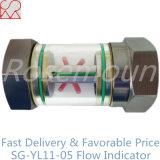 Indicatori di flusso del tubo di vetro di vista con il rotore