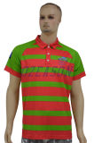 Camisas de polo impresas aduana barata de la combinación de color para los hombres (P007)