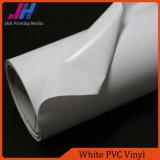 Vinyle lustré de PVC de blanc d'impression à l'encre de teinture