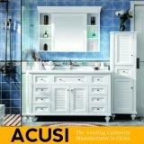 Het Amerikaanse Moderne Meubilair van de Badkamers van het Kabinet van de Badkamers van de Ijdelheid van de Badkamers van de Stijl Stevige Houten (ACS1-W04)